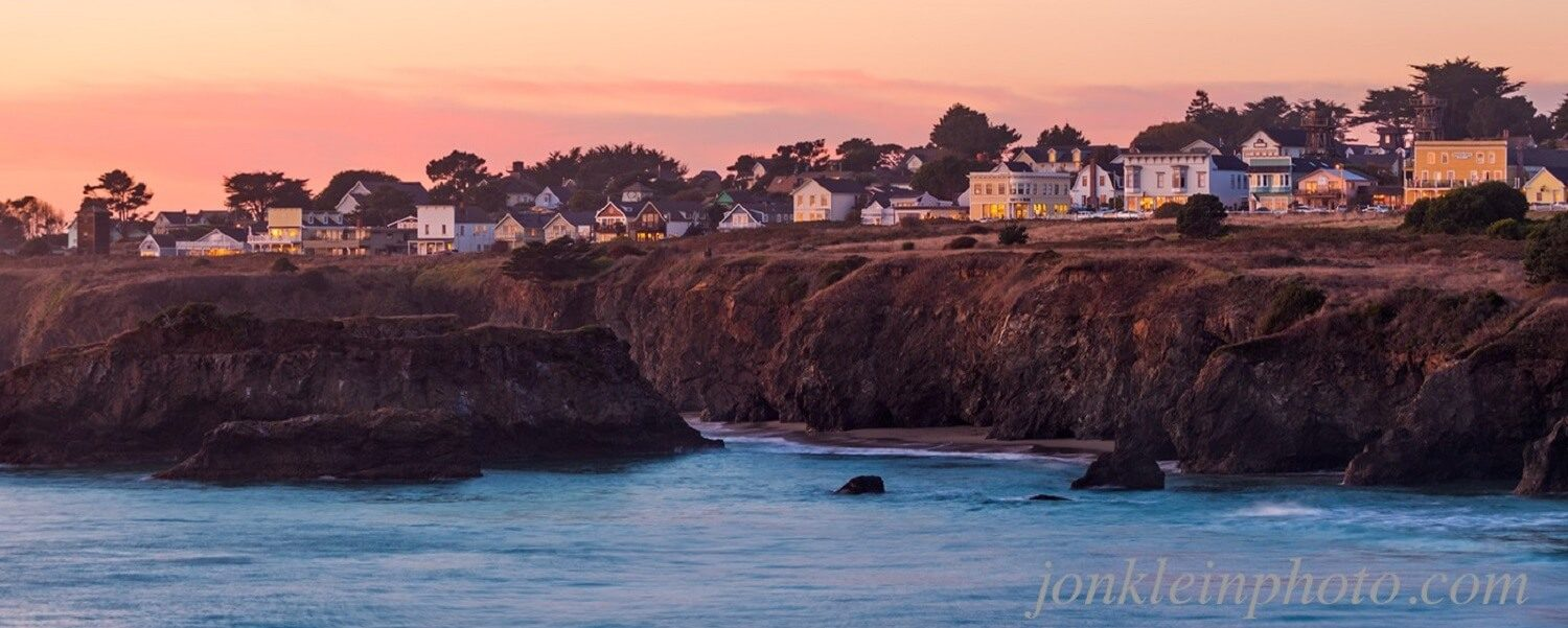 Mendocino at sunset - Jon Klein