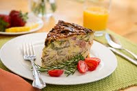 Breakfast Quiche at Sea Rock Inn, a Mendocino inn with ocean-view suites and cottages
