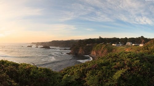 View of the Pacific Ocean from our Mendocino seaside cottages