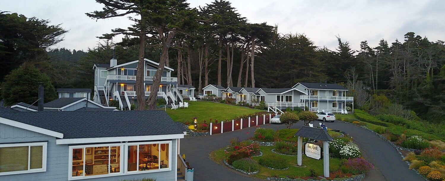 Sea Rock Bed & Breakfast Inn Aerial View