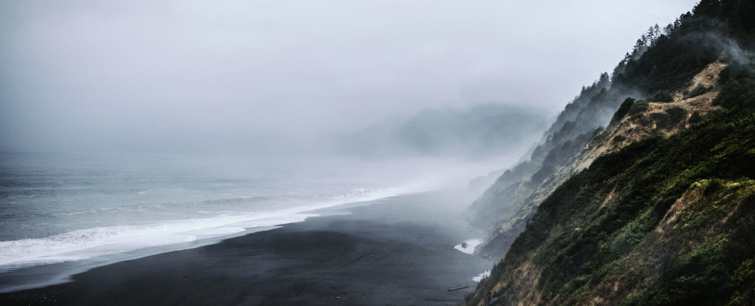 Misty view of the California Lost Coast